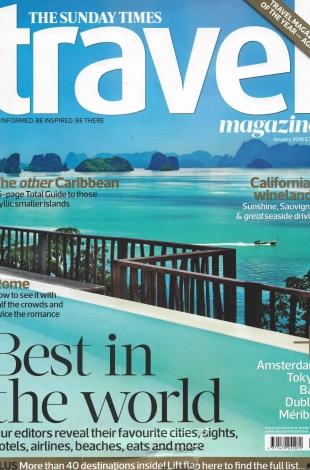 2016.01 – Sunday Times Travel Magazine – UK – COVER