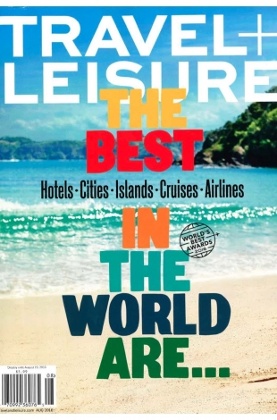 2016.07.07 TravelLeisure USA Worlds Best Awards COVER
