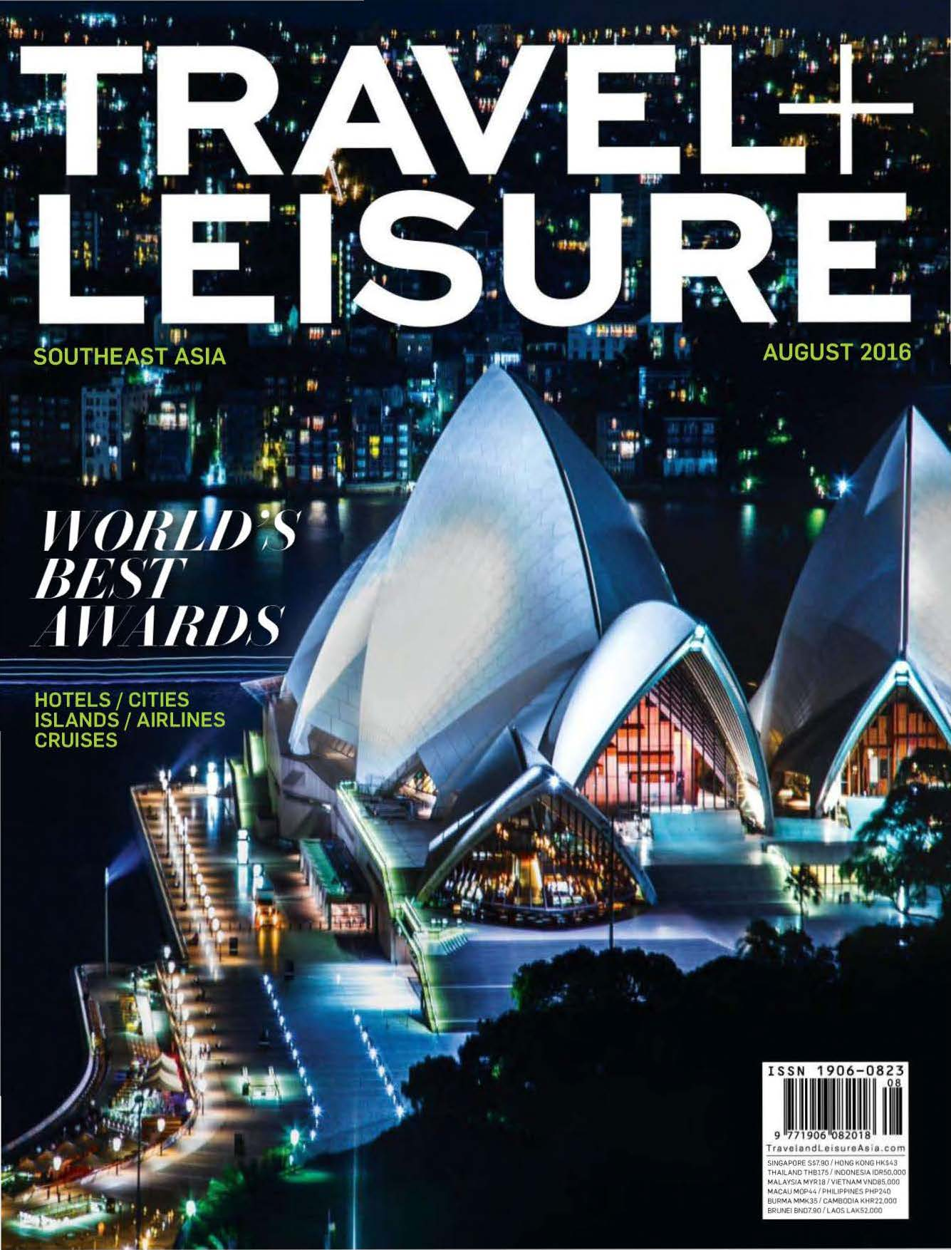 2016.08 – Travel+Leisure Southeast Asia – World's Best Awards – COVER