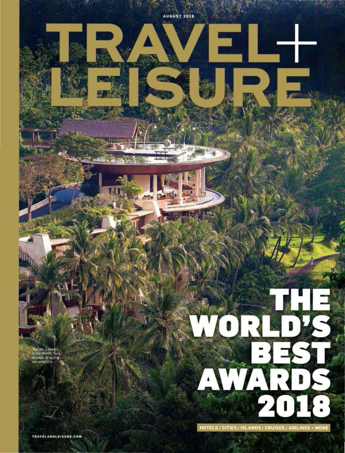 2018.08 TravelLeisure USA Worlds Best COVER
