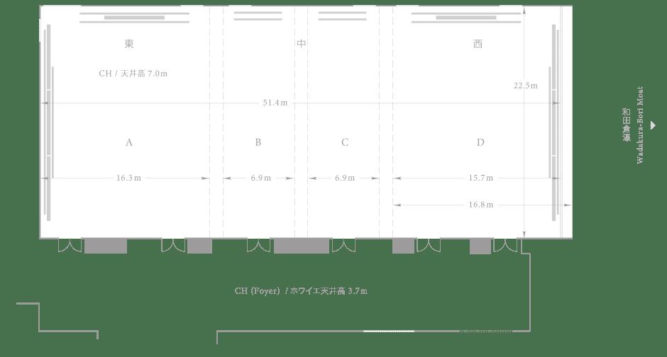 Palace Hotel Tokyo - Aoi - Floor Plan