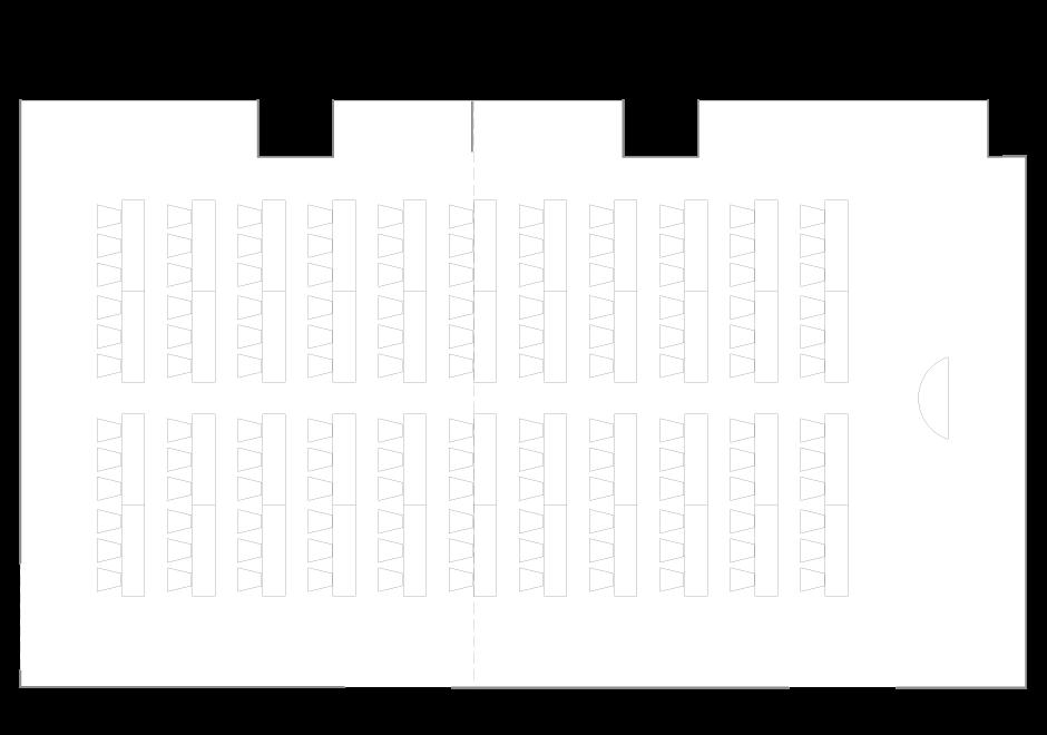 Palace Hotel Tokyo - Ume - Floor Plan Classroom