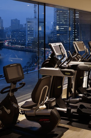 Palace Hotel Tokyo Gym overlooking city views