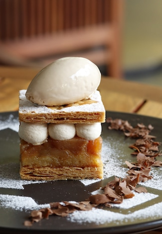 Palace Hotel Tokyo Grand Kitchens Winter 2018 Hojicha Millefeuile T2