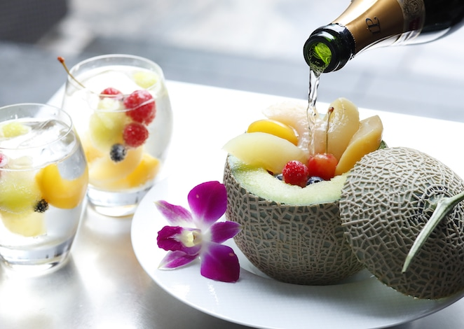 Palace Hotel Tokyo Lounge Bar Privés Summer 2018 Champagne Melon Baller H2