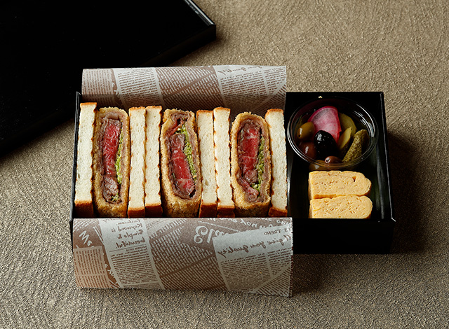 Palace Hotel Tokyo Takeout GO Wagyu Filet Cutlet Sandwich H2