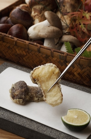 Palace Hotel Tokyo – Tatsumi Matsutake Mushroom Tempura – Best Restaurants Tokyo