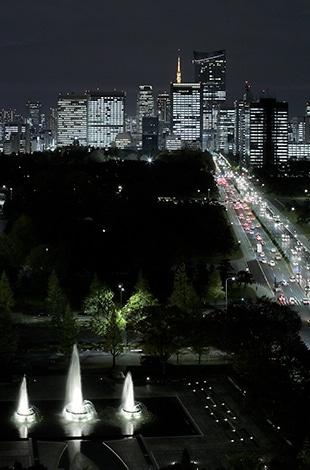 Palace Hotel Tokyo Wadakura Fountaint Park Night View T2