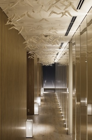 Palace Hotel Tokyo evian SPA Origami Inspired Sculptural Installation T2