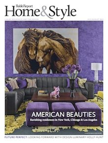Robb Report Home Style USA July August Cover