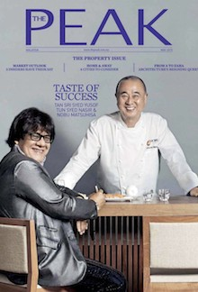 The Peak Malaysia – May 2015 Cover | Palace Hotel Tokyo